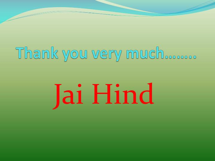 Thank you very much……..