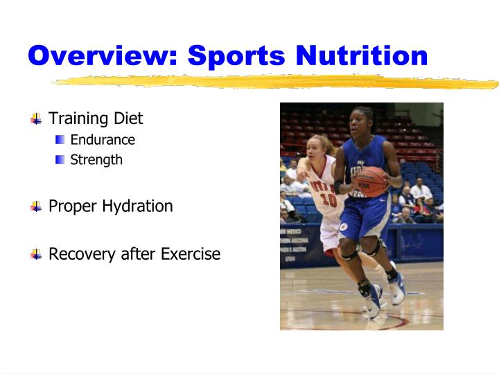 Overview sports nutrition