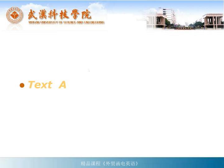 Text  A