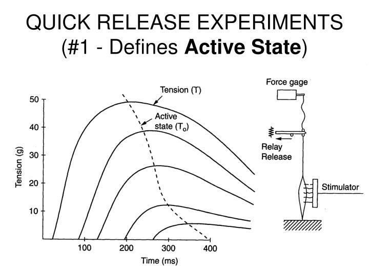 QUICK RELEASE EXPERIMENTS