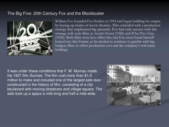 The Big Five: 20th Century Fox and the Blockbuster