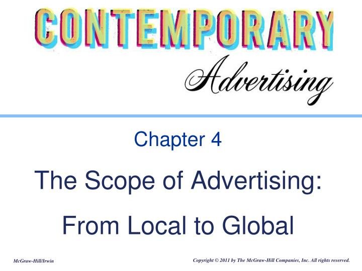 chapter 4 the scope of advertising from local to global n.