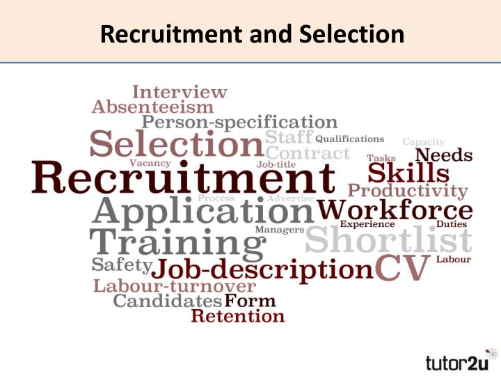 recruitment and selection n.