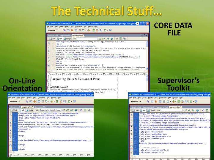The Technical Stuff…