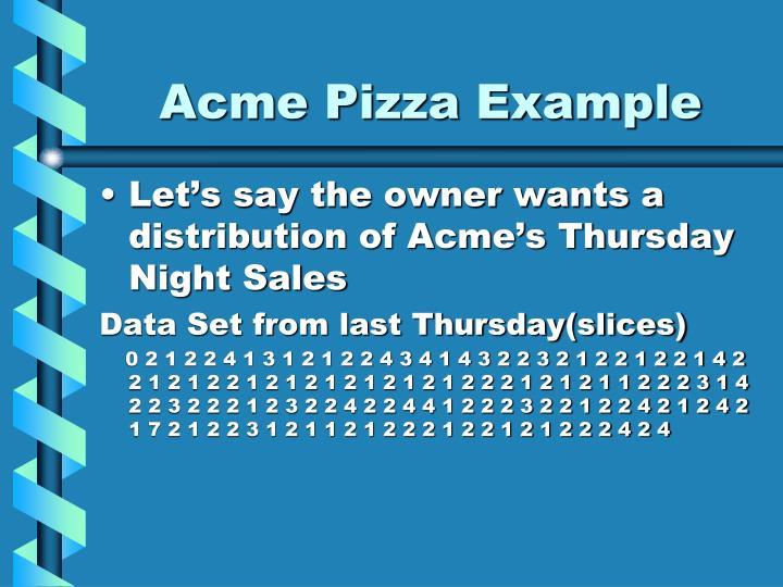 Acme Pizza Example
