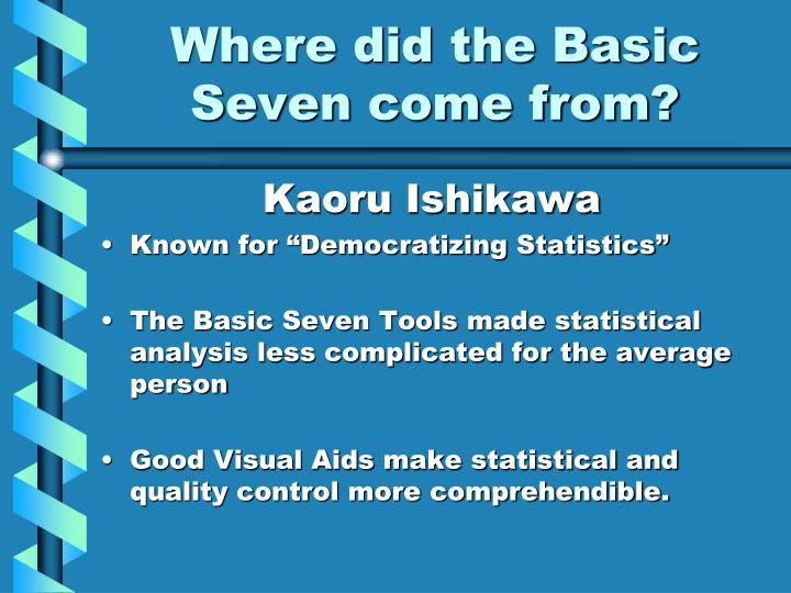 Where did the basic seven come from