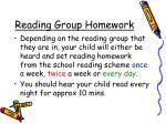 reading group homework