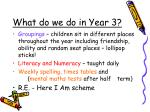 what do we do in year 3