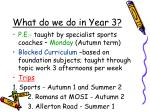 what do we do in year 31