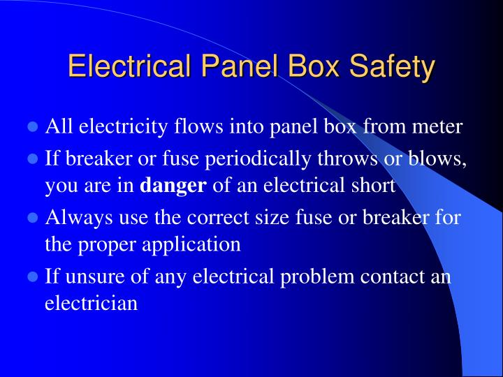 Electrical Panel Box Safety