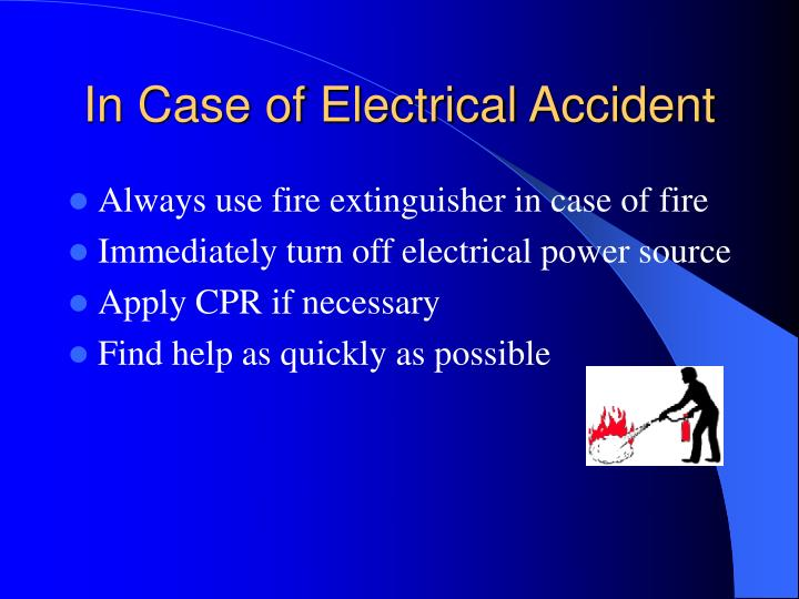 In Case of Electrical Accident