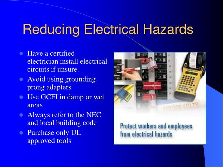 Reducing Electrical Hazards
