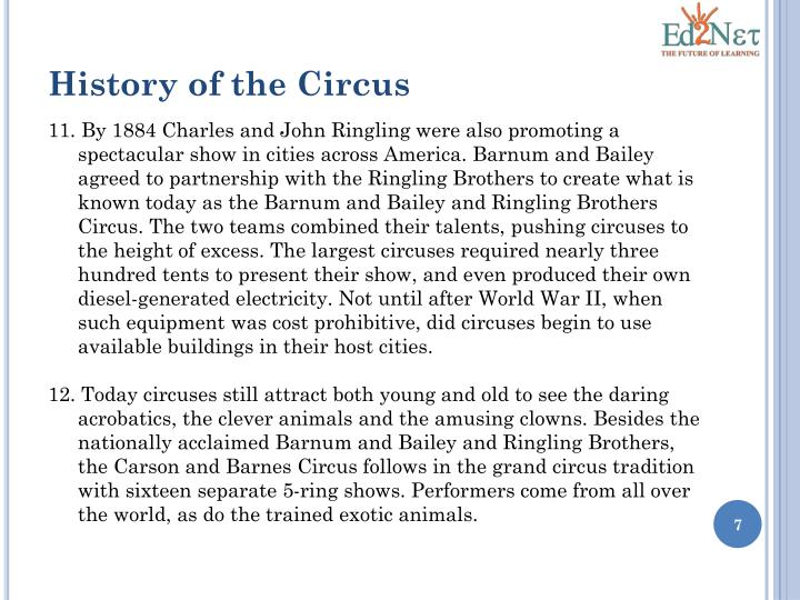 History of the Circus
