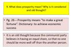 9 what does prosperity mean why is it considered and old thought