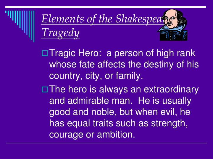 elements of the shakespearean tragedy n.