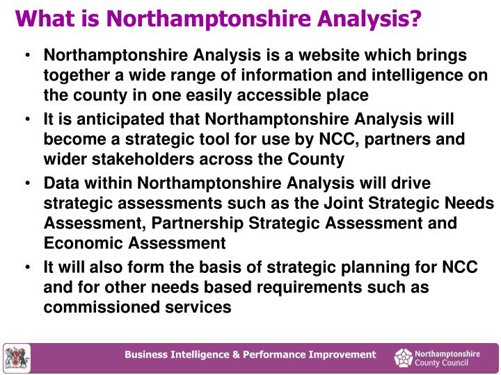 What is northamptonshire analysis
