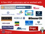 a few anz customers we ve worked with
