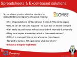 spreadsheets excel based solutions