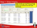 step 1 direct inquiry