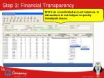 step 3 financial transparency