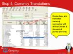 step 5 currency translations