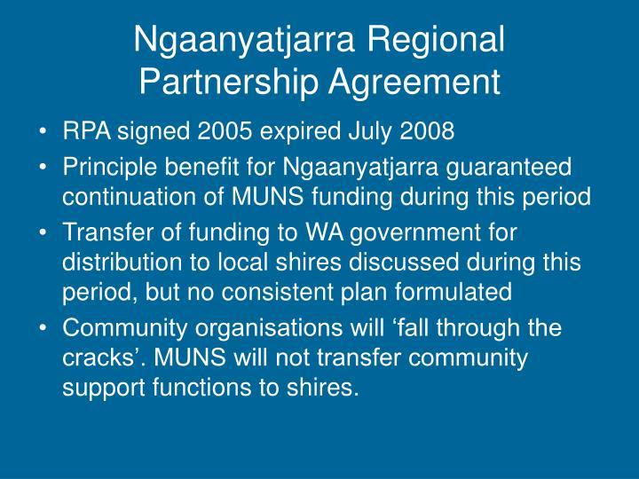 Ngaanyatjarra Regional Partnership Agreement