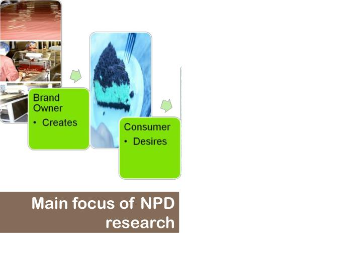 Main focus of NPD research