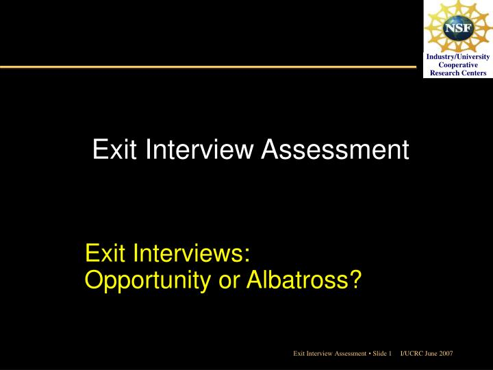 an evidence based analysis of exit interviews While phone based exit interviews are more exit interview analysis creating a business case for an exit interview system exit interview guide to best practice.