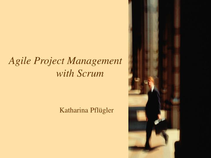 agile project management with scrum katharina pfl gler n.