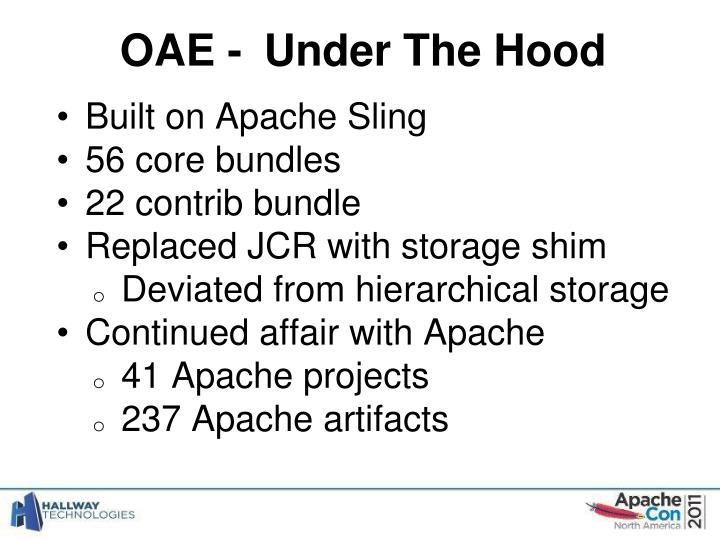 OAE -	Under The Hood