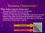 hazardous characteristics