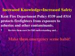 increased knowledge increased safety