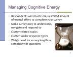 managing cognitive energy