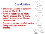 b oxidation