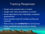 tracking responses