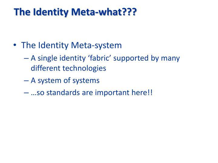 The Identity Meta-what???