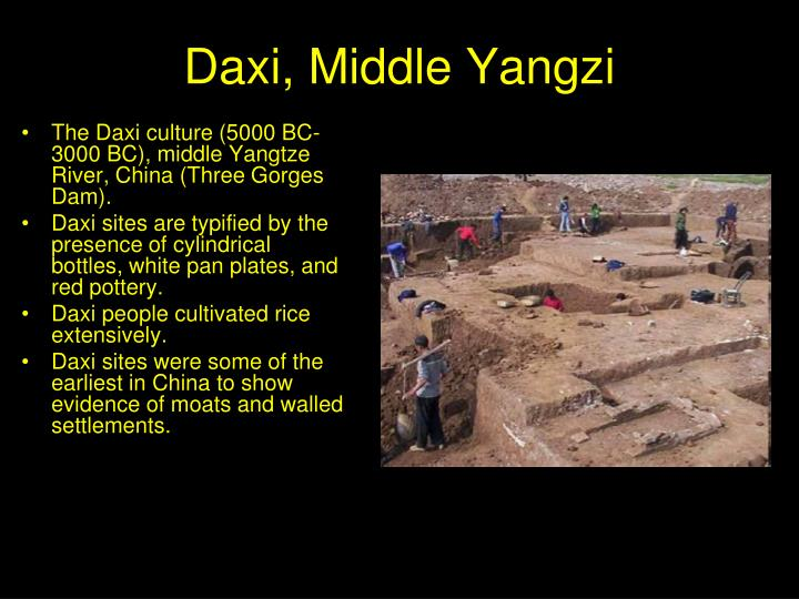 Daxi, Middle Yangzi