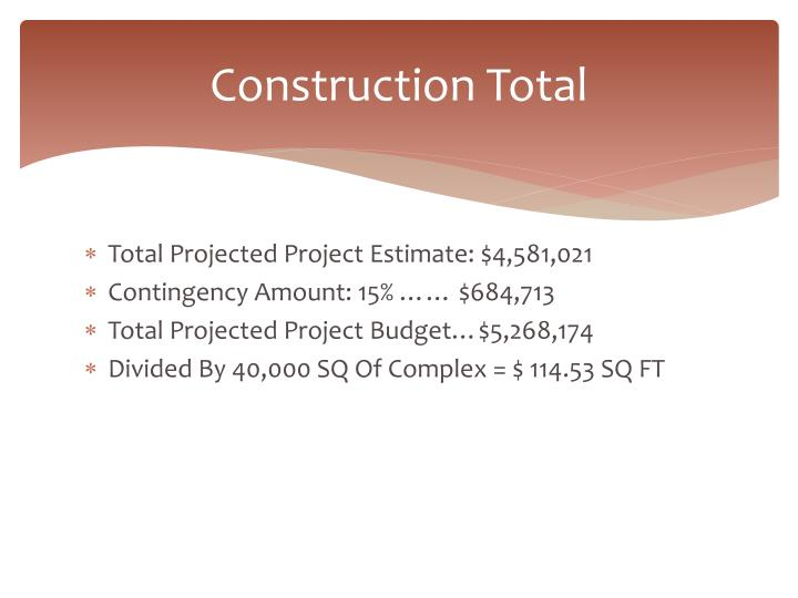 Construction Total