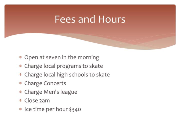 Fees and Hours