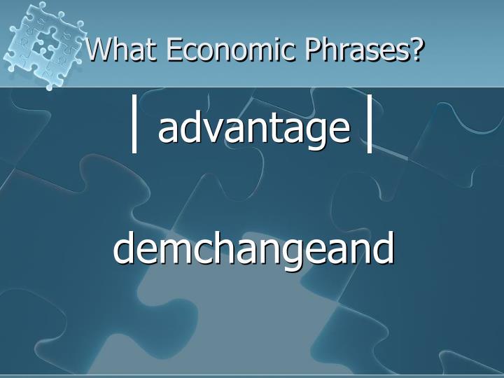 What Economic Phrases?