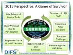 2015 perspective a game of survivor
