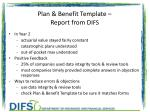 plan benefit template report from d ifs