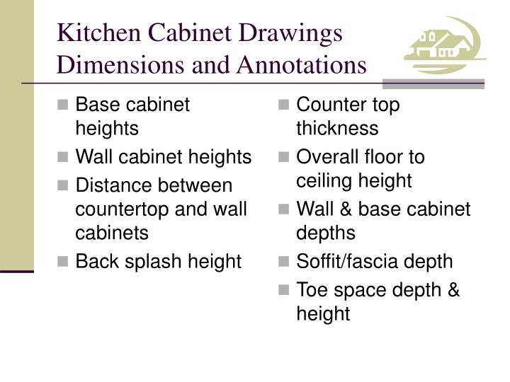 Base cabinet heights