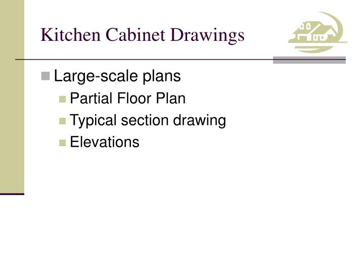 Kitchen cabinet drawings