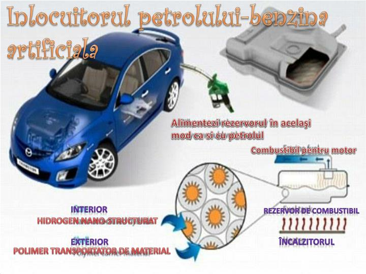 Inlocuitorul petrolului benzina artificiala