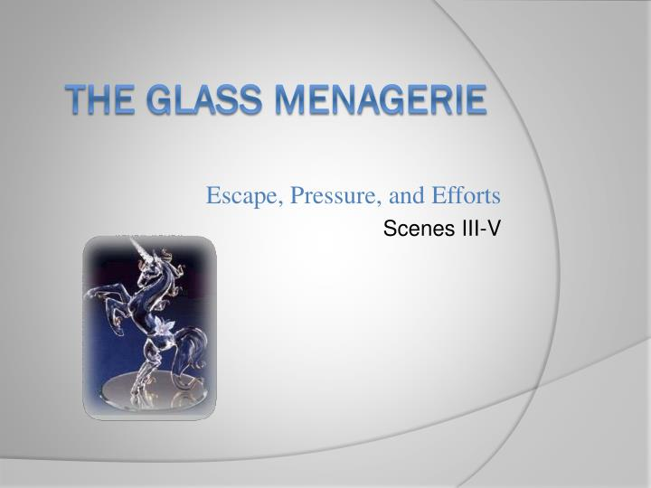 good thesis glass menagerie Ignorance of laura wingfield's disabilities in the glass menagerie - the glass menagerie, by tennessee williams, is a play set in 1937 that highlights the memory of tom wingfield's time at home with his sister and mother, laura and amanda.