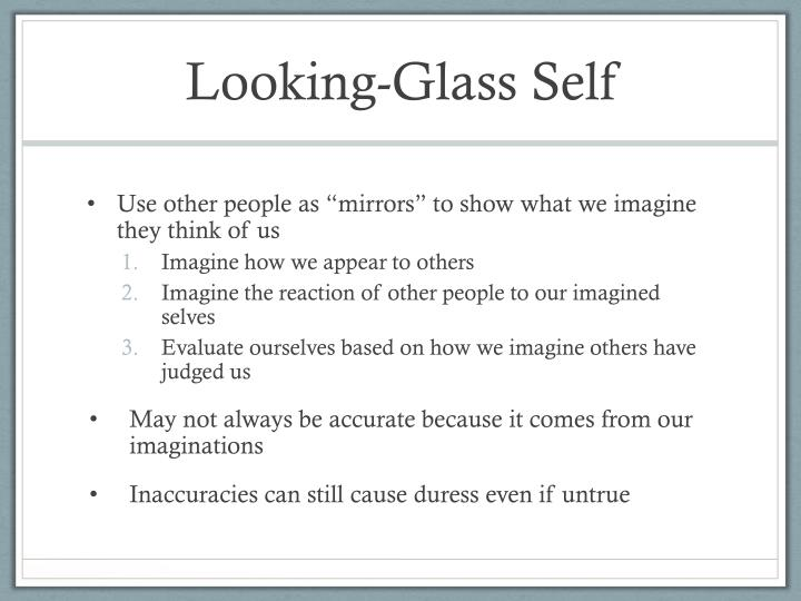 looking glass self Looking-glass-self country of origin: germany.
