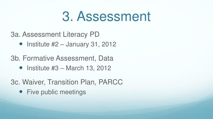 3. Assessment