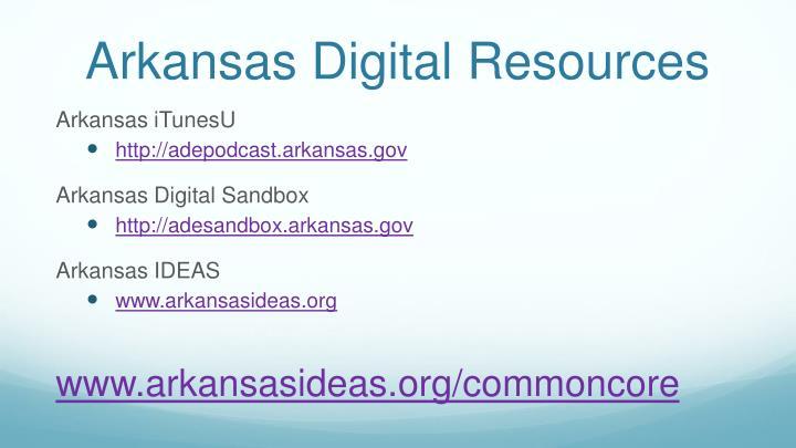 Arkansas Digital Resources