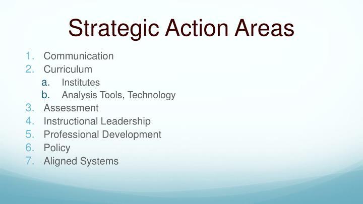 Strategic Action Areas